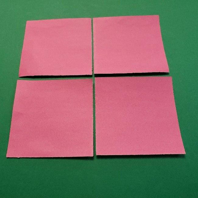どうぶつの森の折り方「ももこ」の折り紙 (2)
