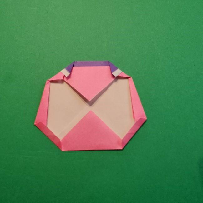 どうぶつの森の折り方「ももこ」の折り紙 (20)