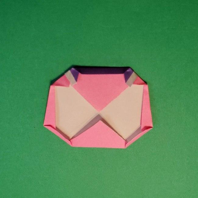 どうぶつの森の折り方「ももこ」の折り紙 (21)