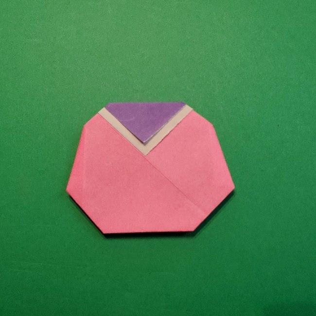 どうぶつの森の折り方「ももこ」の折り紙 (22)