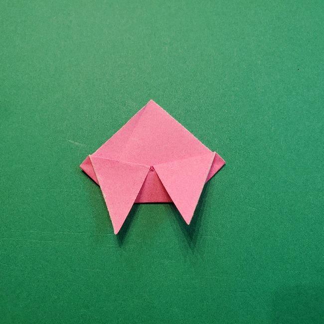 どうぶつの森の折り方「ももこ」の折り紙 (27)