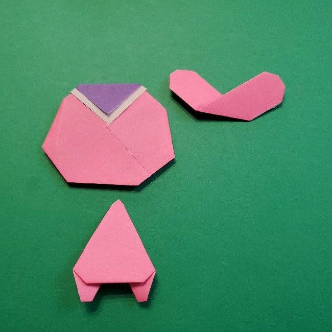 どうぶつの森の折り方「ももこ」の折り紙 (30)
