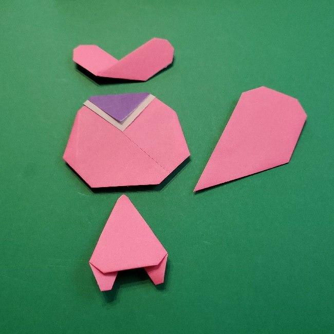 どうぶつの森の折り方「ももこ」の折り紙 (35)