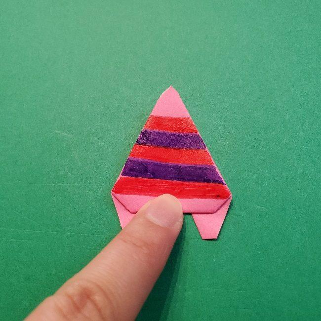 どうぶつの森の折り方「ももこ」の折り紙 (36)