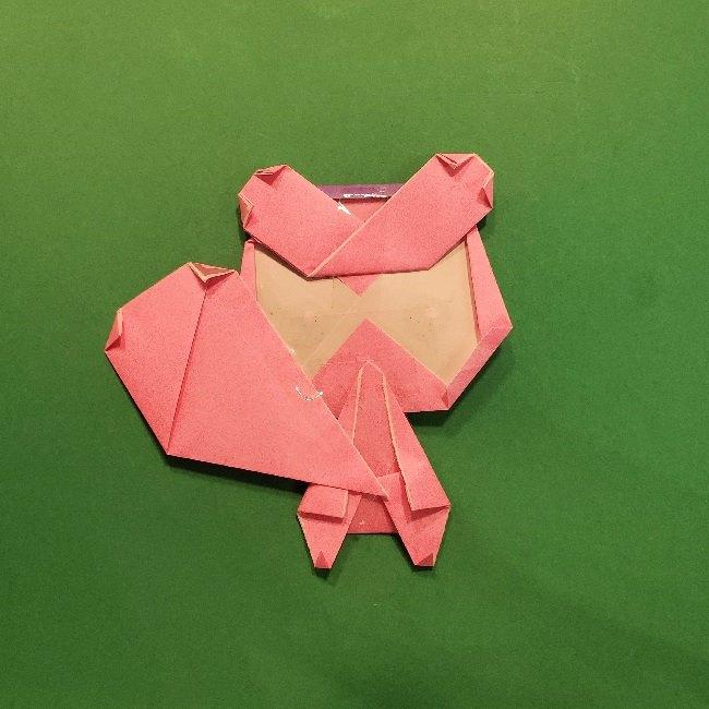 どうぶつの森の折り方「ももこ」の折り紙 (39)