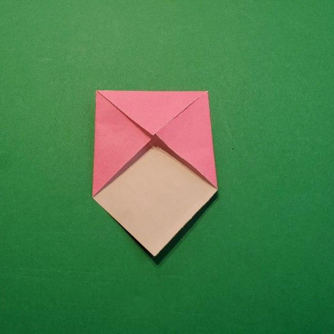 どうぶつの森の折り方「ももこ」の折り紙 (5)