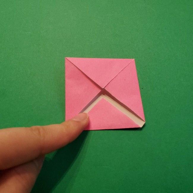 どうぶつの森の折り方「ももこ」の折り紙 (6)