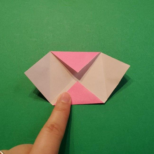 どうぶつの森の折り方「ももこ」の折り紙 (7)