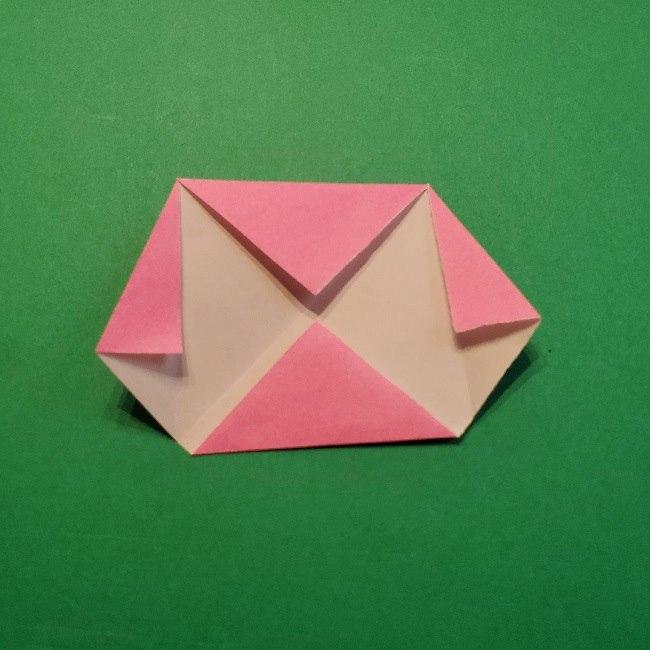 どうぶつの森の折り方「ももこ」の折り紙 (8)