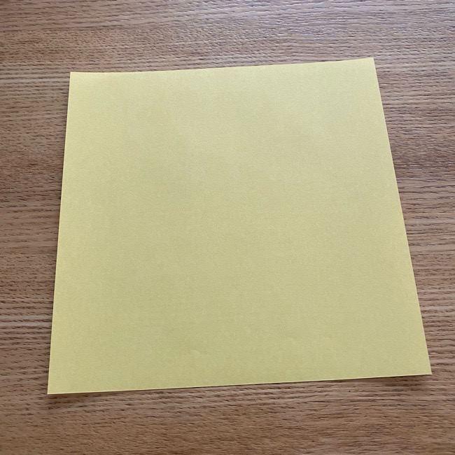 アンパンマン『チーズ』折り紙の折り方作り方 (1)