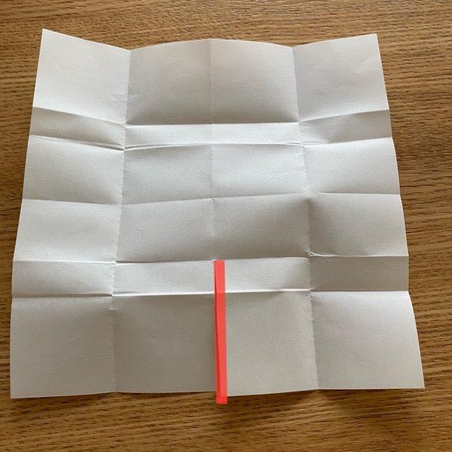 アンパンマン『チーズ』折り紙の折り方作り方 (21)