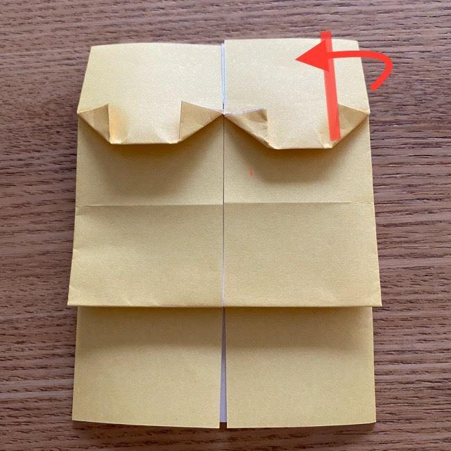 アンパンマン『チーズ』折り紙の折り方作り方 (25)