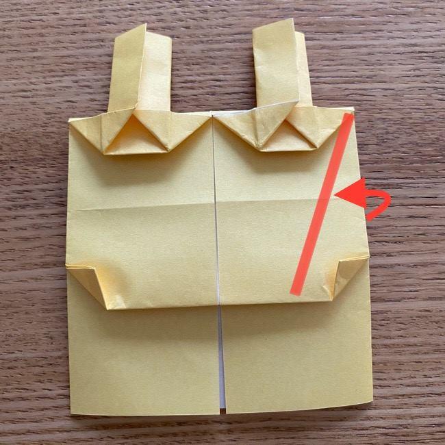 アンパンマン『チーズ』折り紙の折り方作り方 (30)