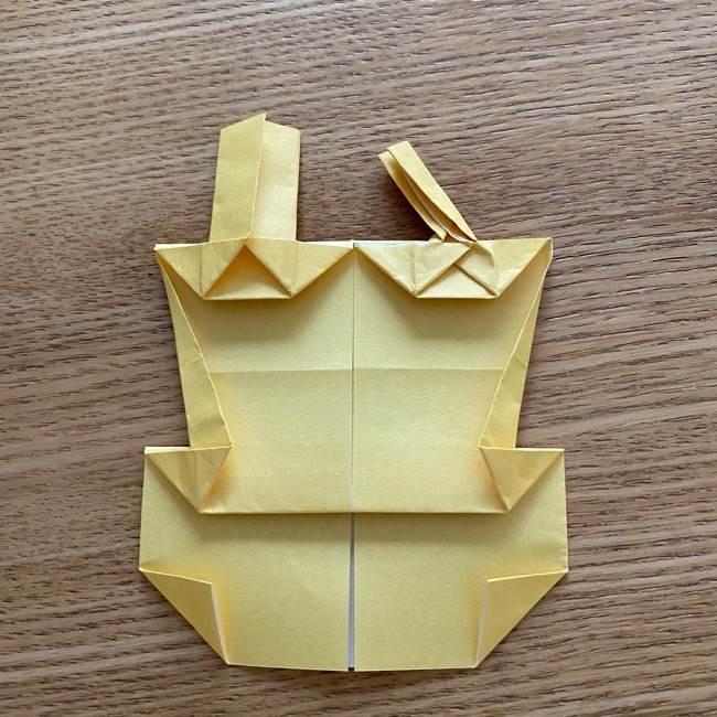 アンパンマン『チーズ』折り紙の折り方作り方 (35)