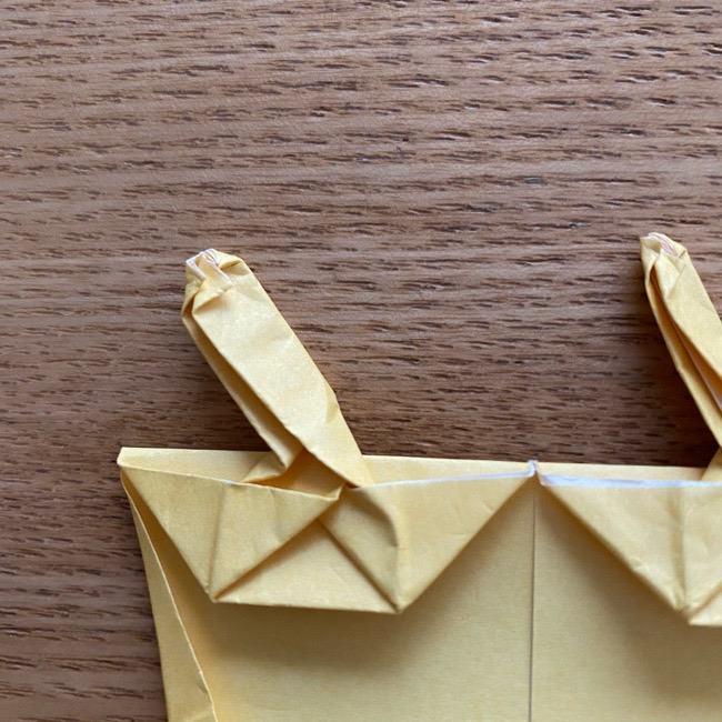アンパンマン『チーズ』折り紙の折り方作り方 (37)