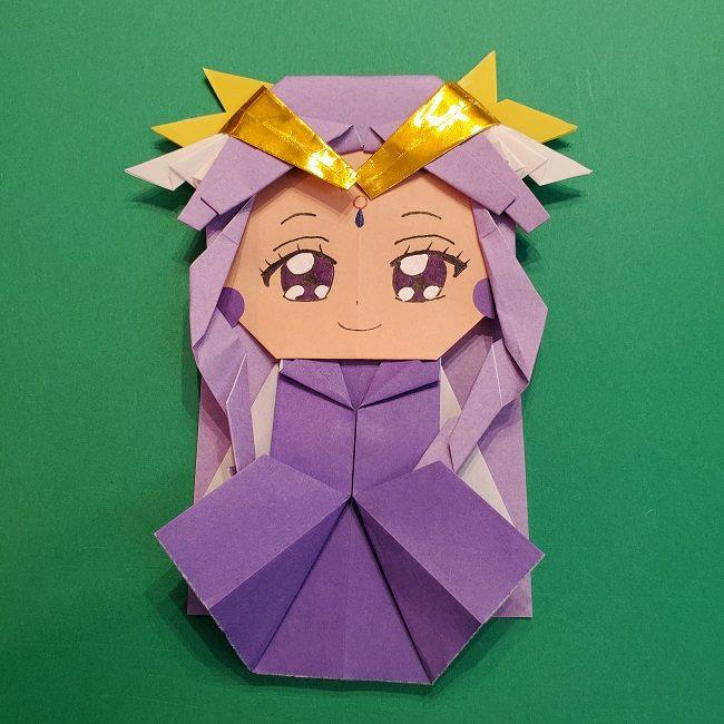 キュアアースの折り紙(全身)折り方作り方☆ヒーリングっとプリキュアのかわいいキャラクター★