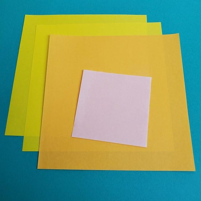 キュアスパークルの折り紙*用意するもの (1)