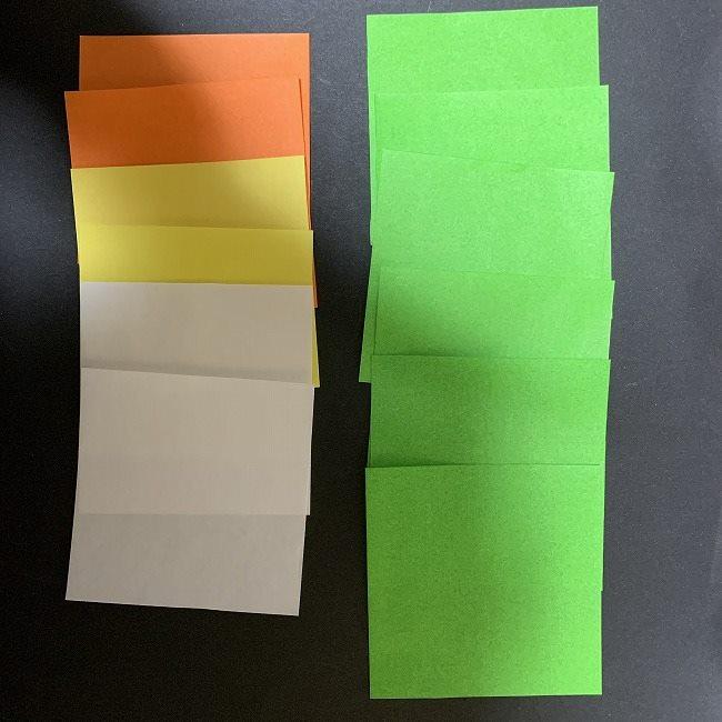 チューリップの折り紙の花束(平面)*用意するもの (3)