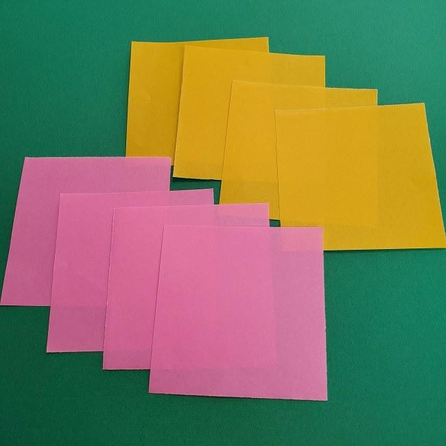 チューリップの折り紙リース*用意するもの (1)