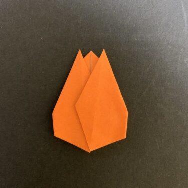チューリップの折り紙製作★4歳・5歳児(年中・年長)にオススメな簡単な花の折り方