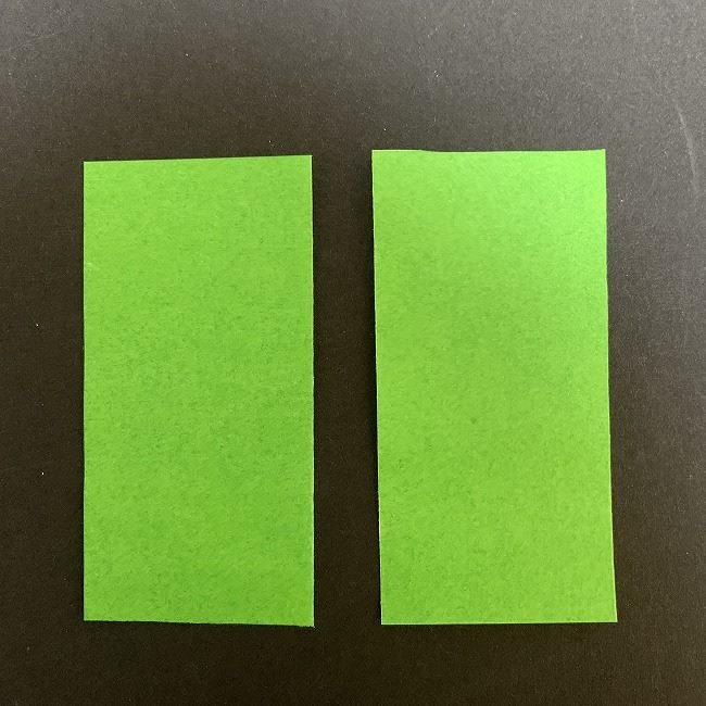 チューリップの折り紙 茎(草・葉)*用意するもの (1)