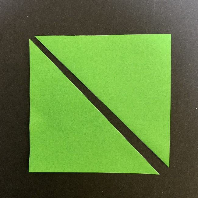 チューリップの折り紙 茎(草・葉)*用意するもの (2)