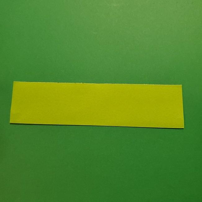 チューリップの折り紙 4歳児とつくった茎・葉(立体)の作り方 (23)