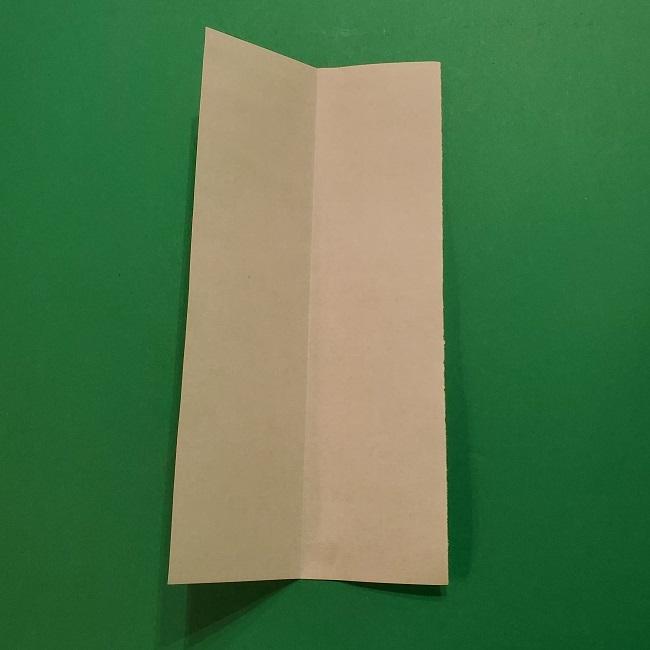 チューリップの折り紙 4歳児とつくった茎・葉(立体)の作り方 (24)