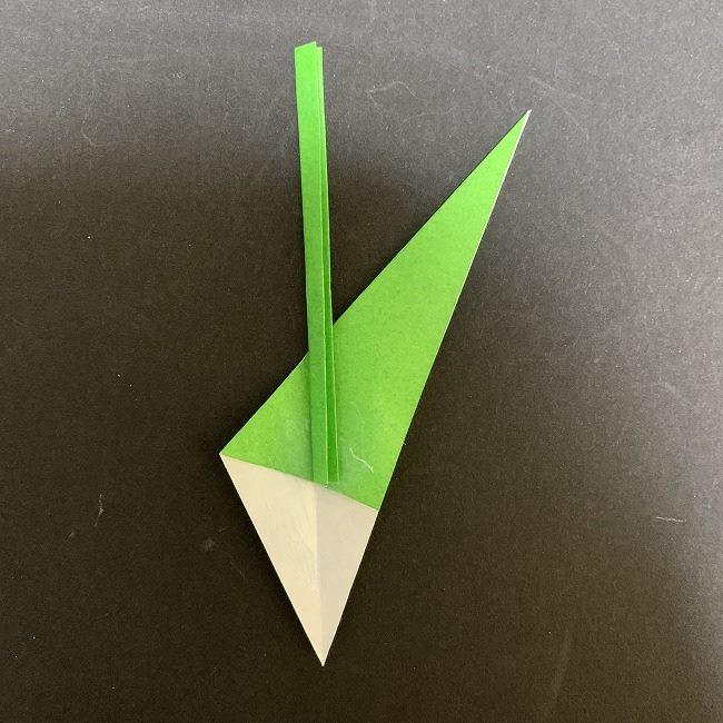 チューリップの茎・葉*折り方作り方 (13)