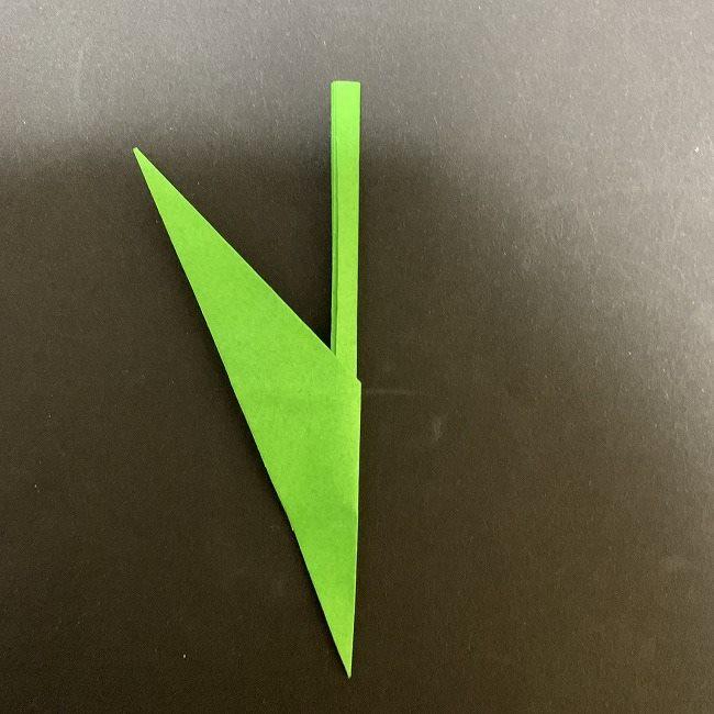 チューリップの茎・葉*折り方作り方 (15)