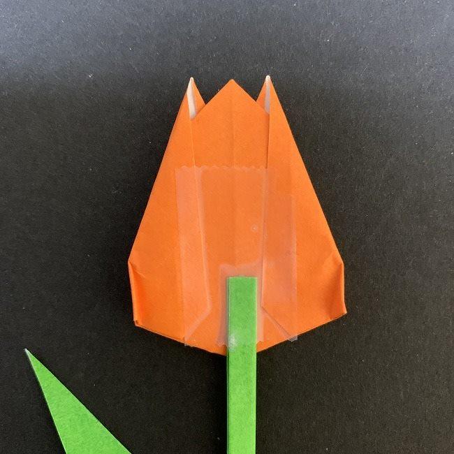 チューリップの茎・葉*折り方作り方