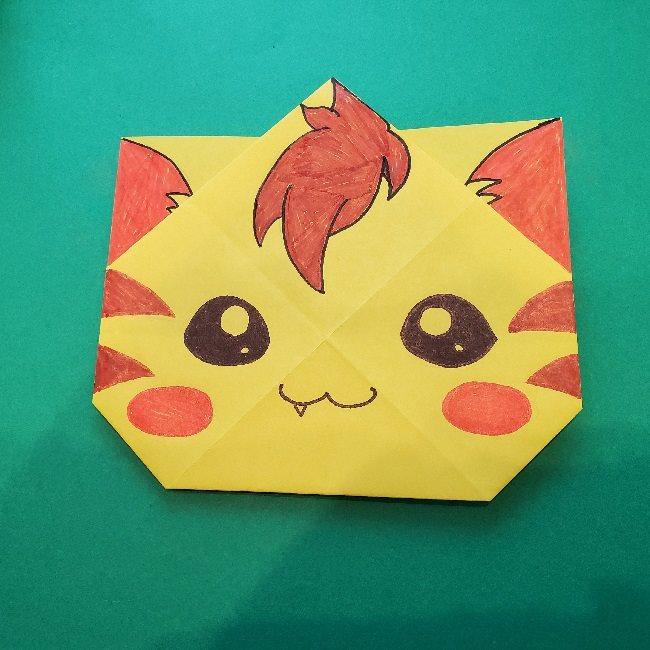 ニャトランの折り紙★ヒーリングっどプリキュアのネコの折り方作り方