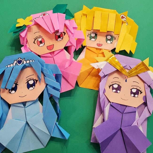 プリキュア キュアアースの折り紙は簡単⁈作った感想