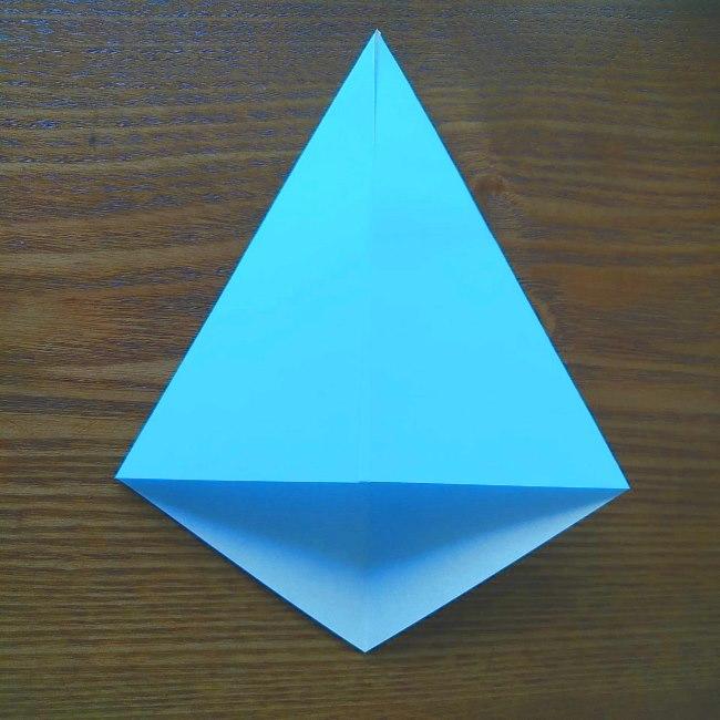 プリキュアの折り紙 水のエレメントさんの作り方折り方 (3)