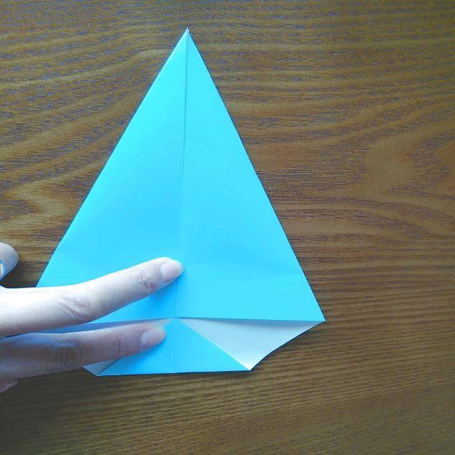 プリキュアの折り紙 水のエレメントさんの作り方折り方 (4)