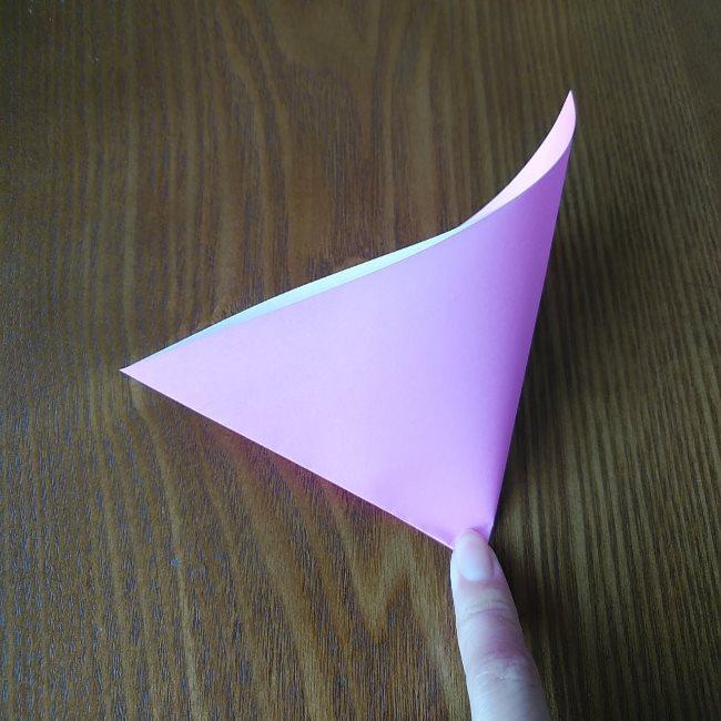 プリキュアの折り紙 花のエレメントさんの作り方折り方 (3)