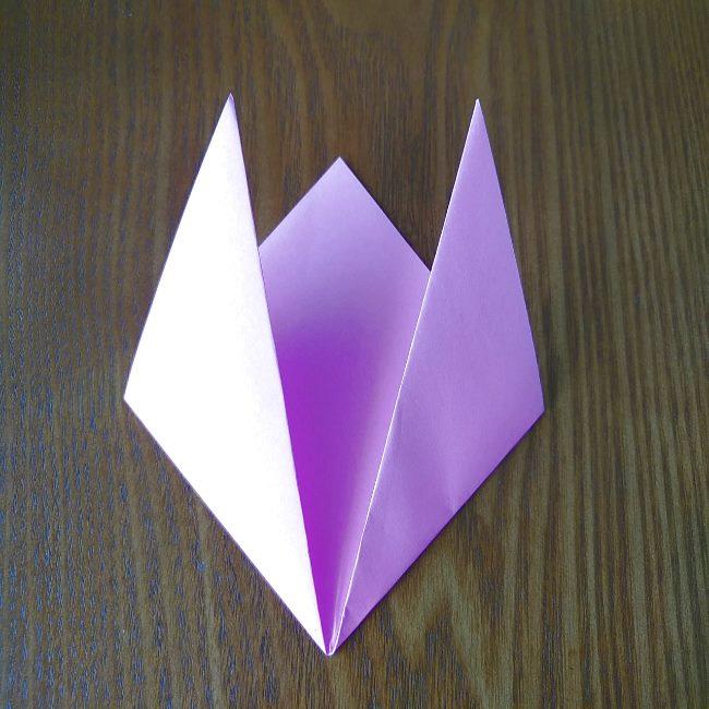 プリキュアの折り紙 花のエレメントさんの作り方折り方 (4)
