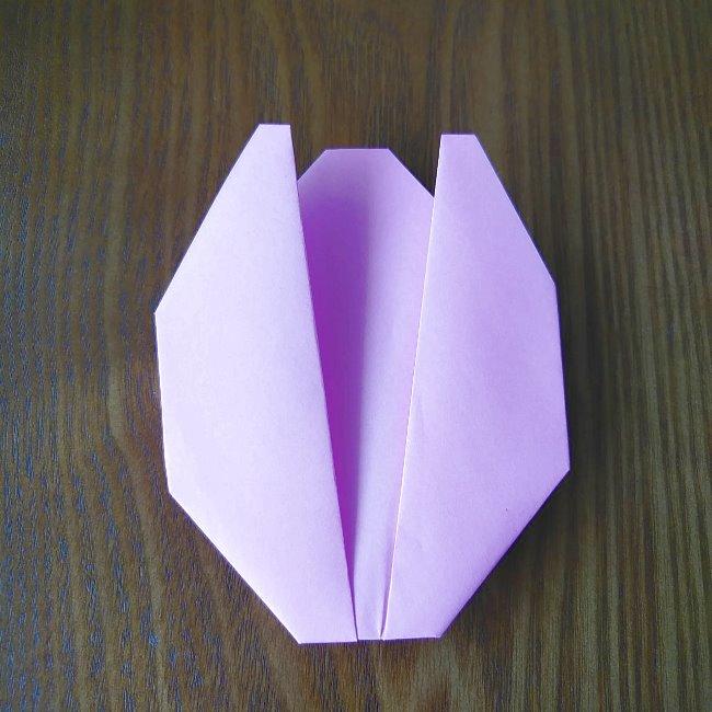 プリキュアの折り紙 花のエレメントさんの作り方折り方 (5)