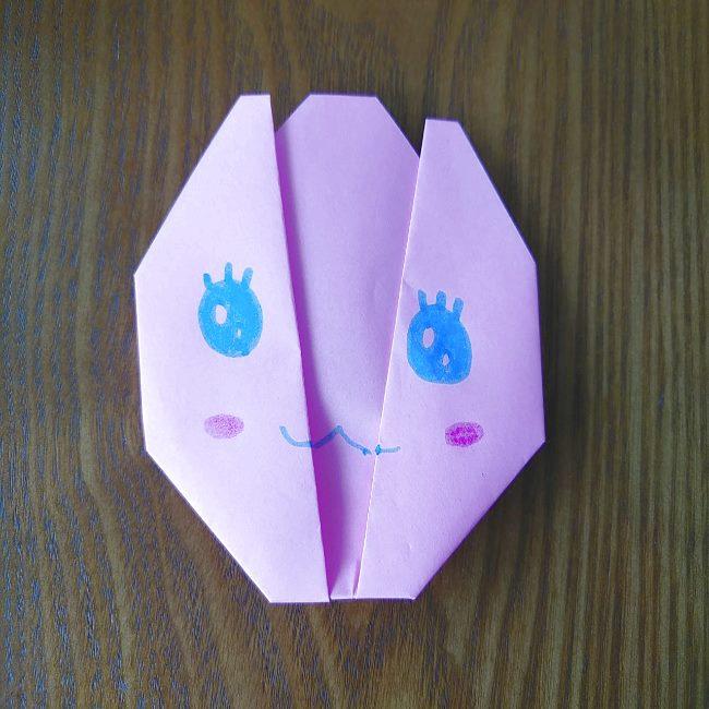 プリキュアの折り紙 花のエレメントさんの作り方折り方 (6)