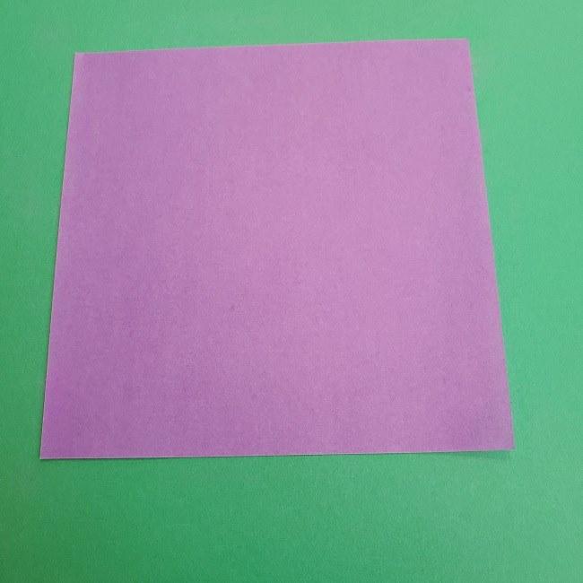 プリキュアキュアアースの服:折り紙は紫色(15cmサイズ) (1)