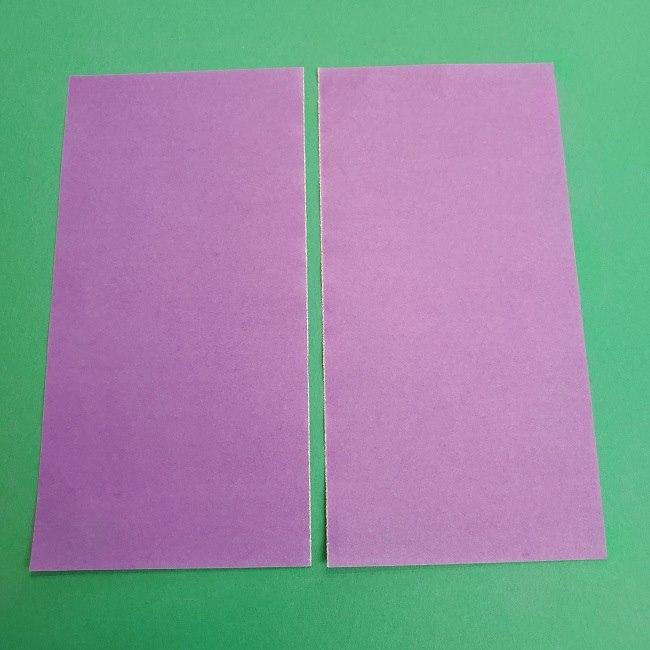 プリキュアキュアアースの服:折り紙は紫色(15cmサイズ) (2)