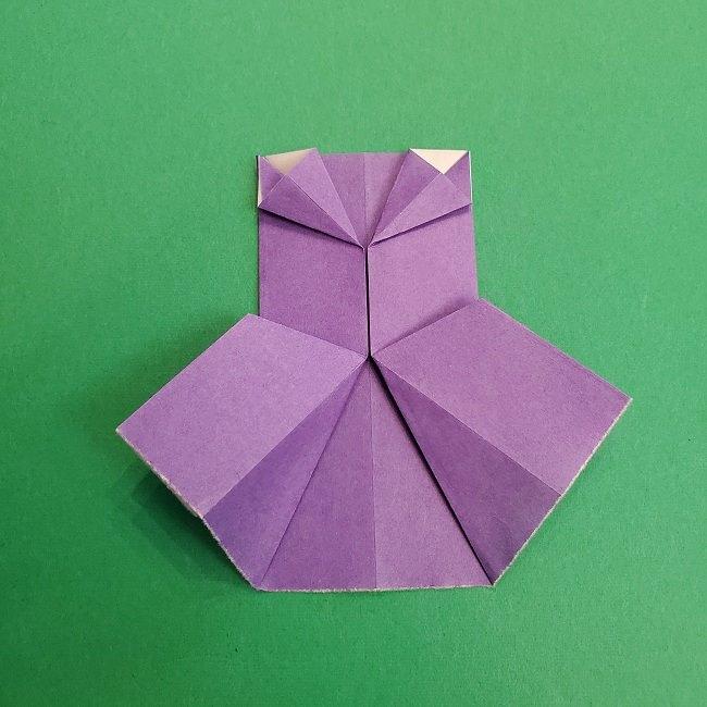 プリキュアキュアアースの服:折り紙は紫色(15cmサイズ) (4)