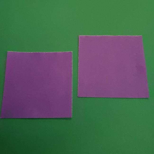 プリキュアキュアアースの服:折り紙は紫色(15cmサイズ) (5)