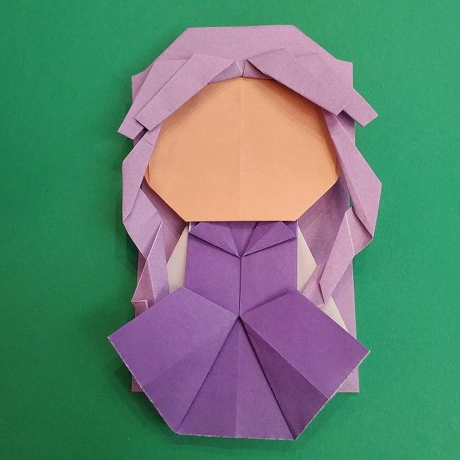 プリキュアキュアアースの服:折り紙は紫色(15cmサイズ) (7)