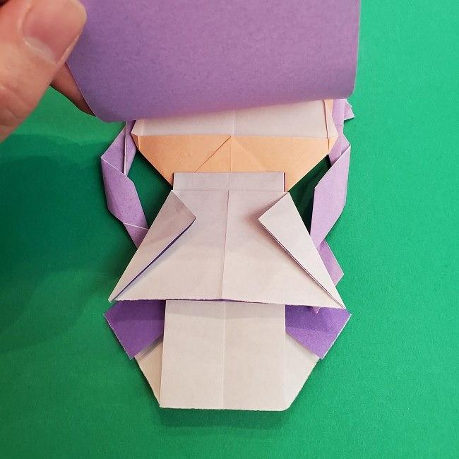 プリキュアキュアアースの服:折り紙は紫色(15cmサイズ) (8)