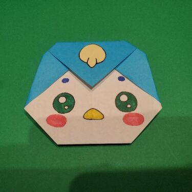ペギタンの折り紙 折り方作り方★簡単かわいいヒーリングっどプリキュアのペンギンギャラクター