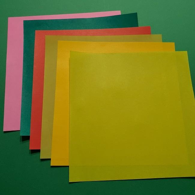 折り紙【チューリップのブーケ】用意するもの (1)