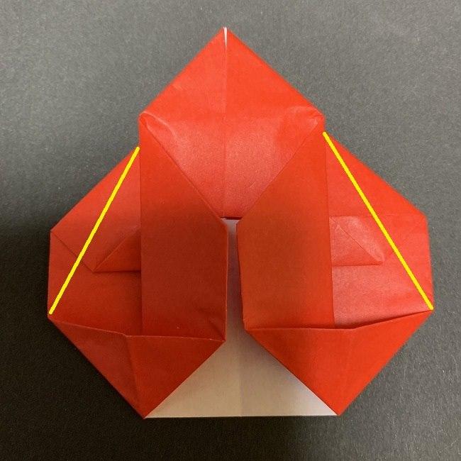 折り紙【チューリップの名札】の作り方折り方 (23)