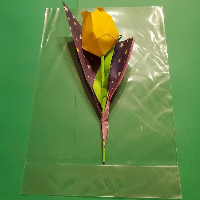 折り紙でチューリップをラッピングする方法★ (10)