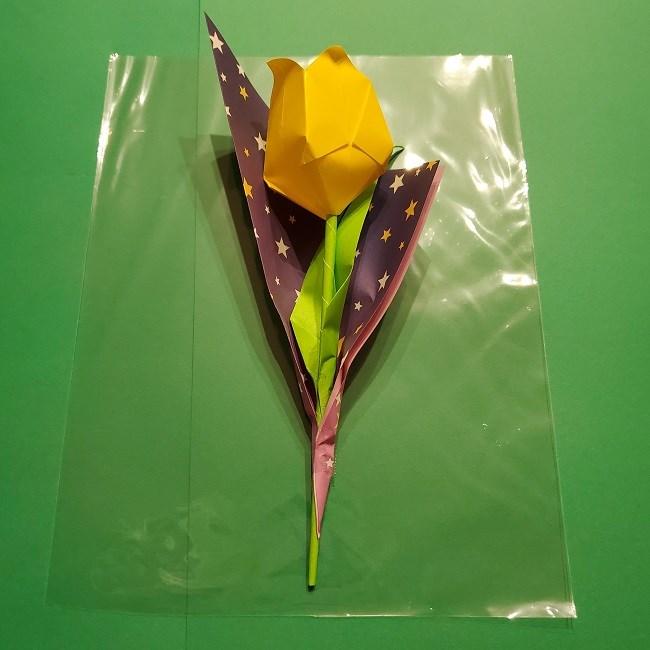 折り紙でチューリップをラッピングする方法★ (11)